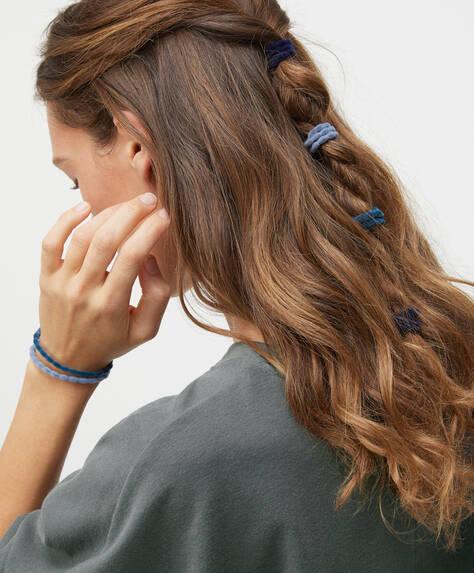 Pack of 6 velvet hair ties