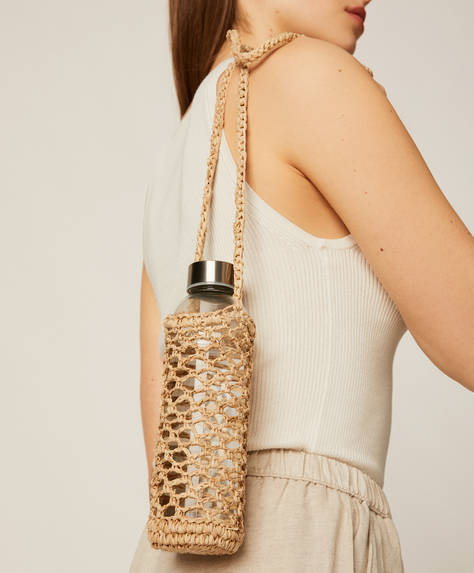 Raffia bottle carrier