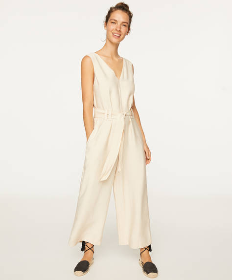 Plain strappy jumpsuit