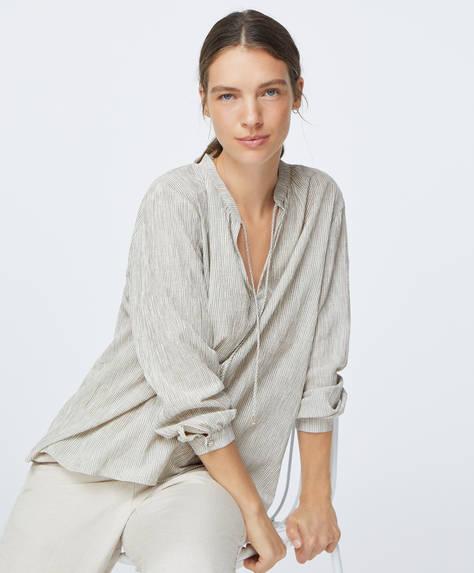 Katoenen shirt met strepen
