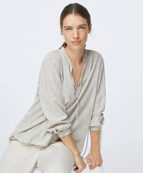 Camisa algodón raya