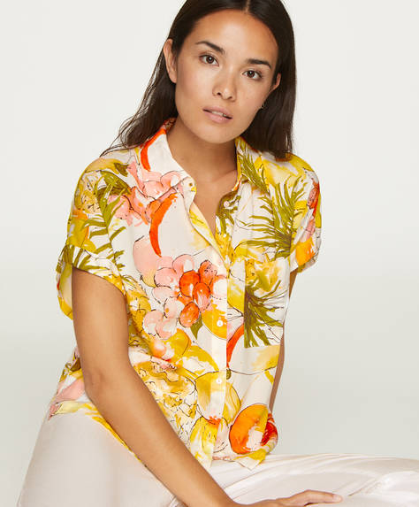 Tropical fruit shirt