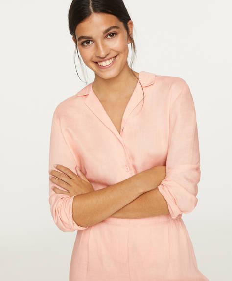 Camisa lino rosa