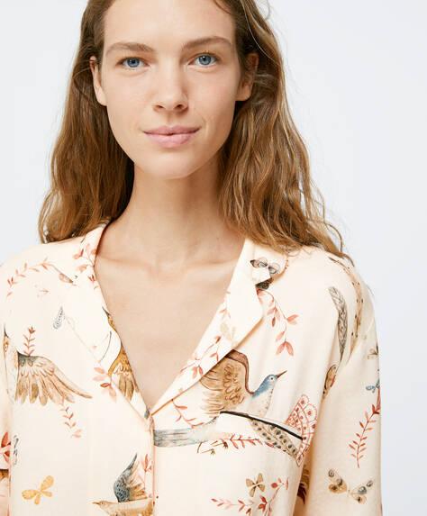 Bird print shirt