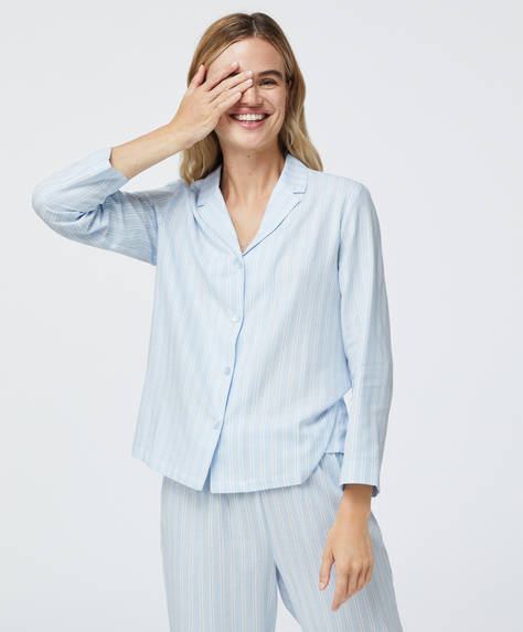Camisa 100% algodão às riscas