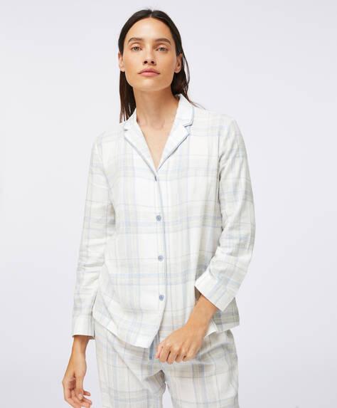 Camisa 100% algodón cuadros gris