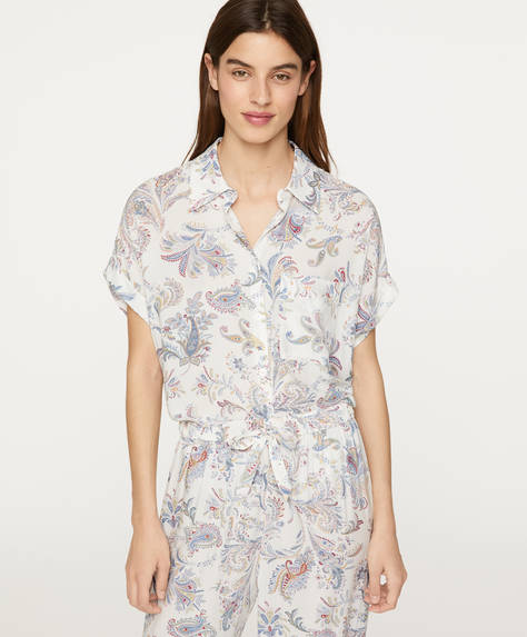 Multicolour paisley short-sleeved shirt
