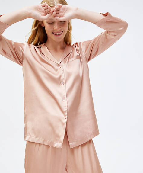 Camisa viscosa rosa