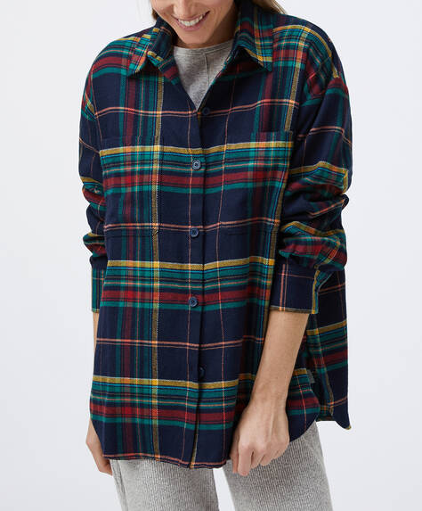 Dark check overshirt