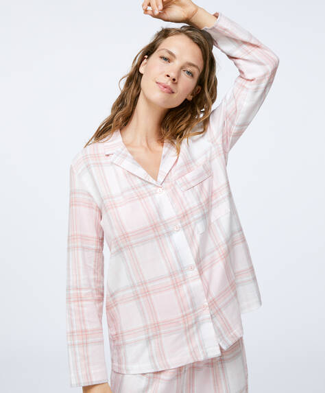 100% cotton pink check shirt