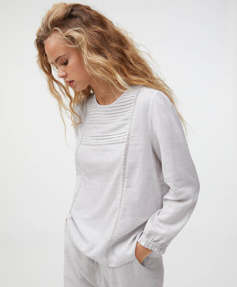 Camiseta algodón bordado