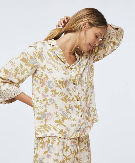 Chemise à fleurs rétro