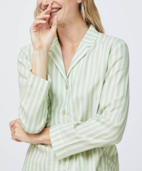 Green stripe 100% cotton shirt