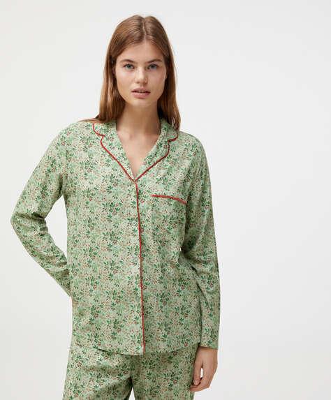 Camisa flor verde