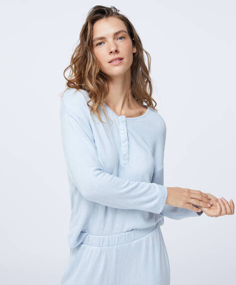 Sweater, comfort feel, med knapper