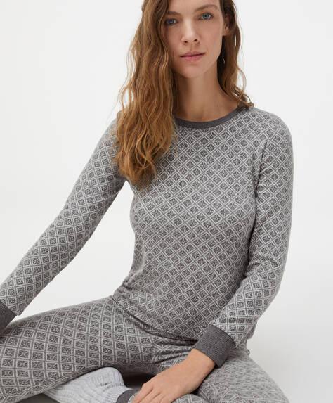 Camiseta jacquard rombo comfort feel