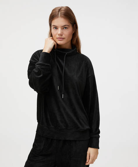 Plain fleece sweatshirt