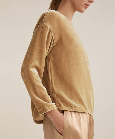 Camiseta terciopelo seda