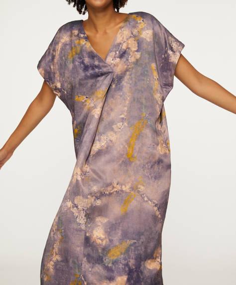 Floral tie-dye print tunic