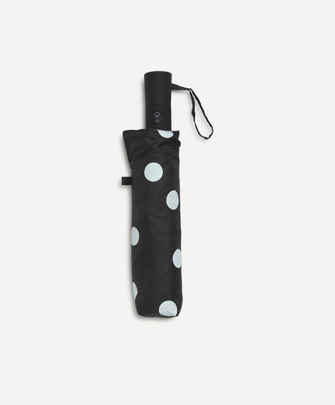 Polka dot automatic umbrella