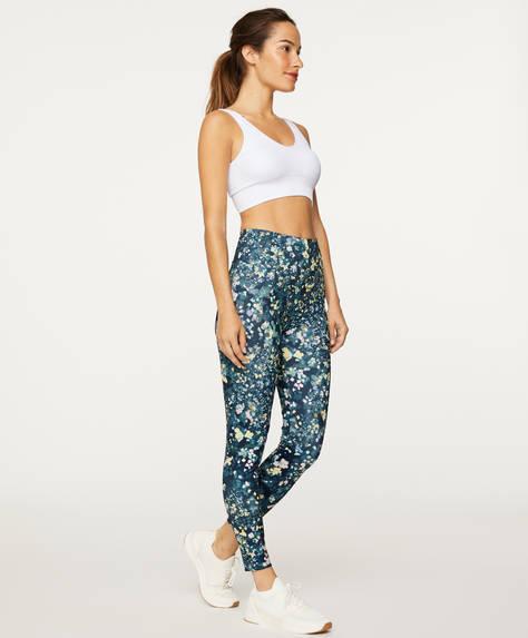 Pantaloni legging cu imprimeu floral