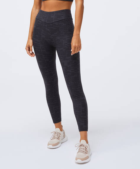 Letter print compression leggings