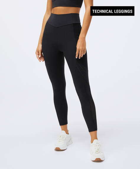 Sculpt panel compression leggings