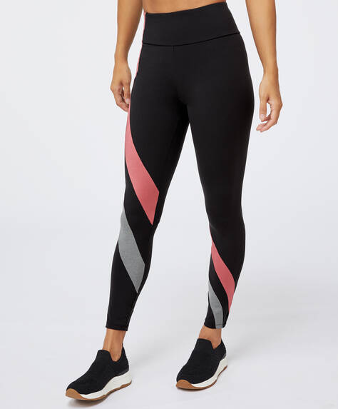 Panel compression leggings