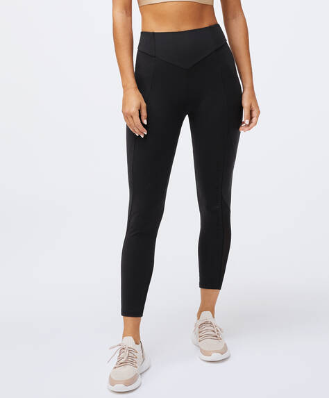 Leggings gainant avec inscription en mesh