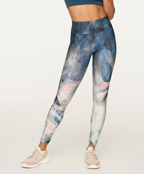 Print blue leggings