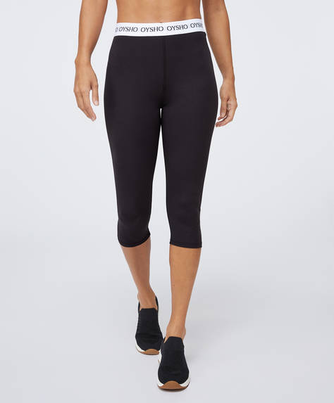 Basic capri leggings with logo elastic