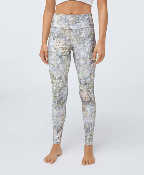 Leggings estampado flor cretona