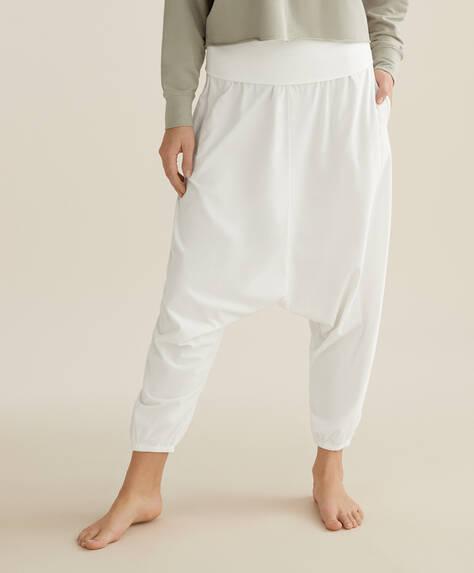 100% organic cotton harem trousers