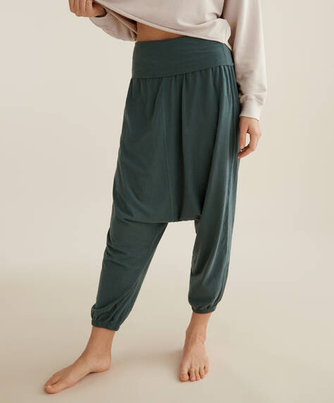 100% organic cotton harem trousers