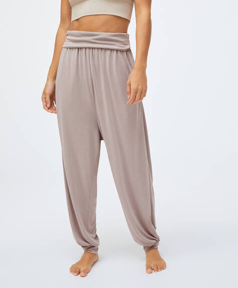 Pantalón harem modal
