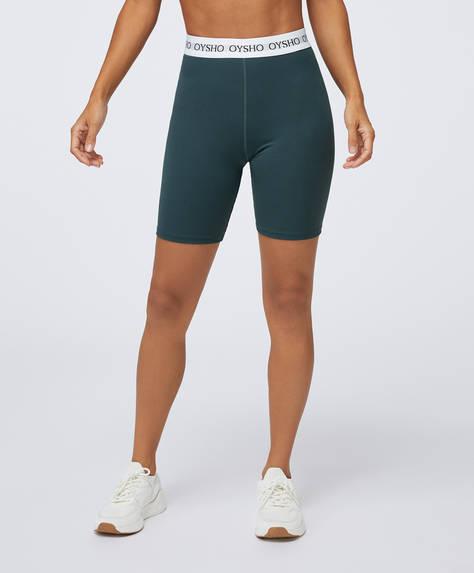 Basic cycle shorts with logo elastic