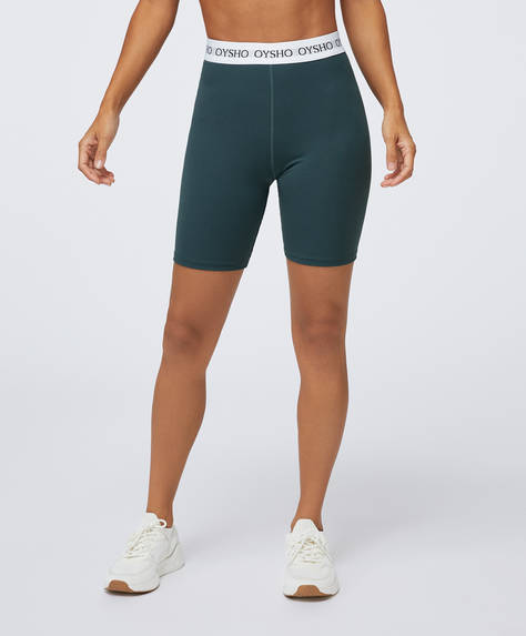 Basic cycle shorts with logo elastic