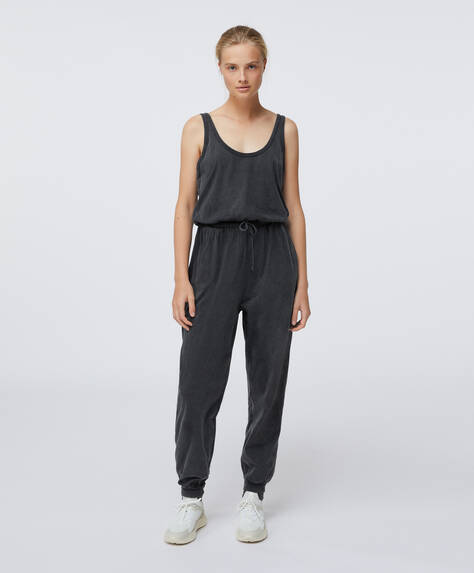 Long cotton jumpsuit