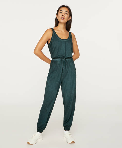 Long cotton jumpsuit
