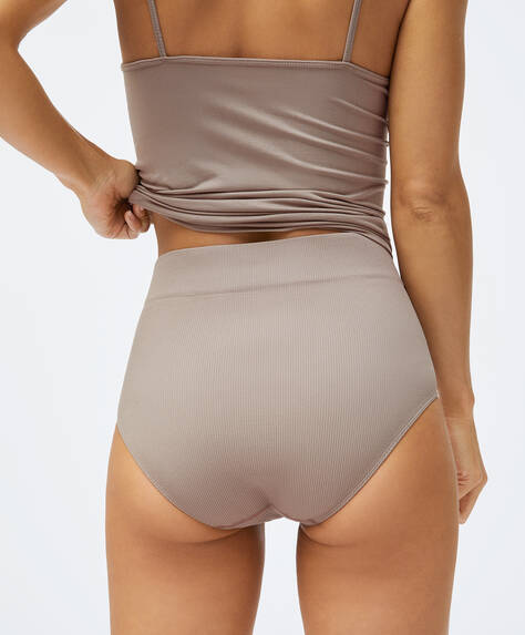 High-waisted seamless briefs
