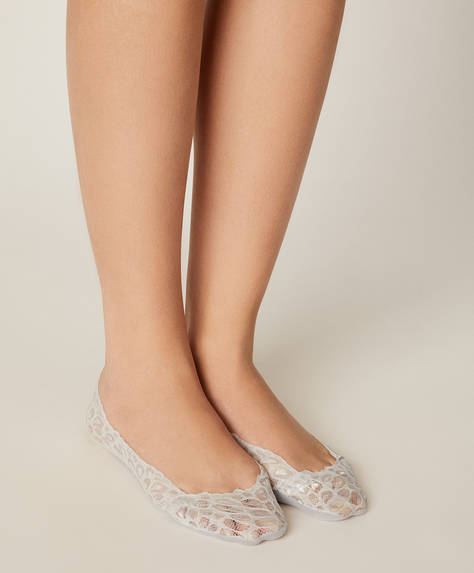 Pack of 2 pairs of lace footsies