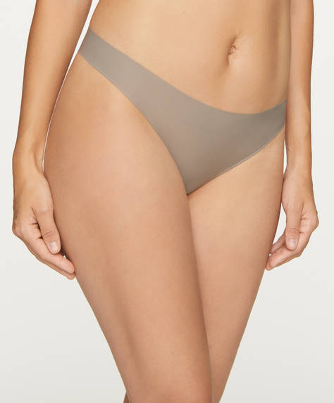 3 laser-cut microfibre thongs