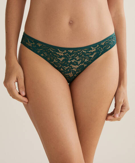 3 lace and velvet classic briefs