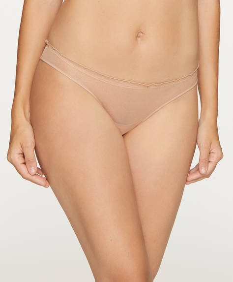 3 tulle Brazilian briefs