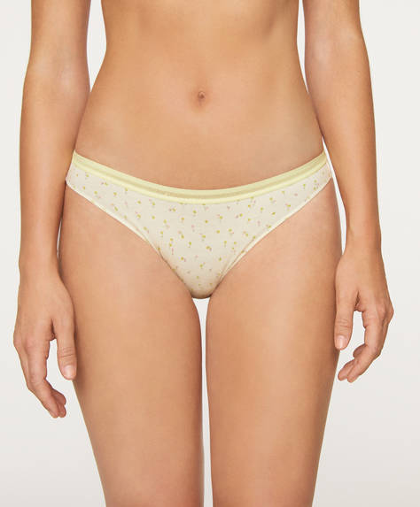 5 ditsy floral cotton Brazilian briefs