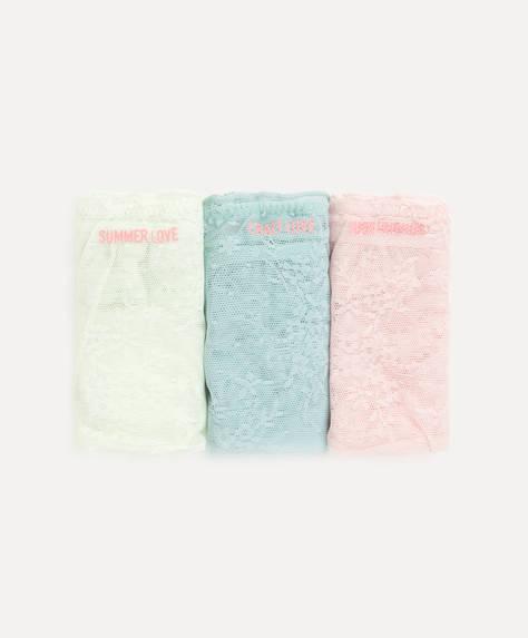 3 pastel classic briefs