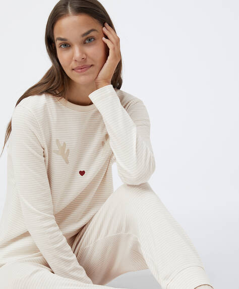 Cotton reindeer pyjama pack