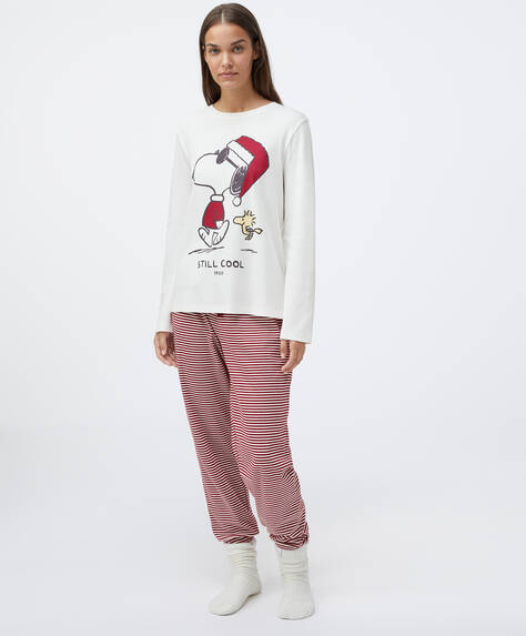 Pyjama-Set aus Baumwolle mit Snoopy©