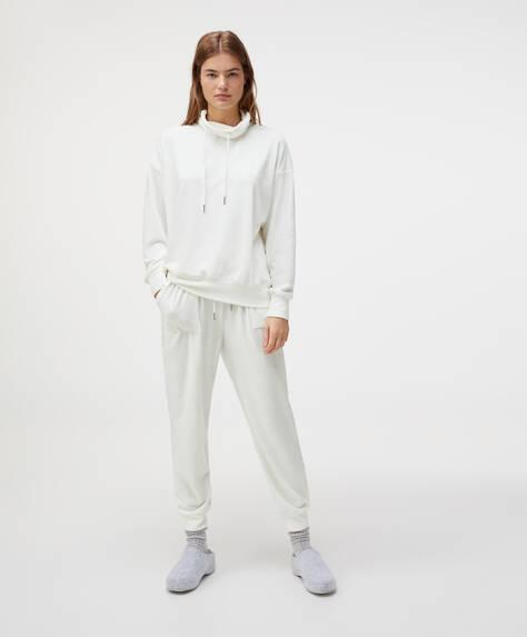 Plain fleece trousers