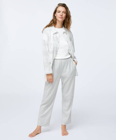 Plain grey fleece trousers
